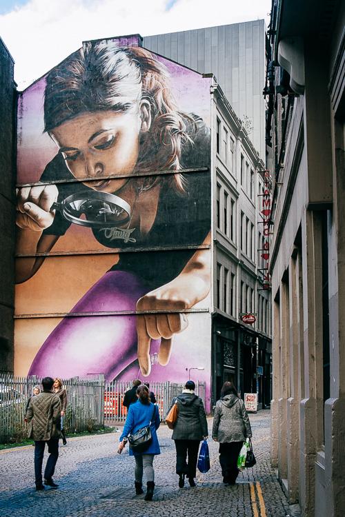 Girl with Magnifying Glass by Smug
