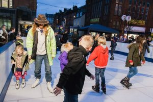 Ice rink at Dumfries Xmas lights switch on