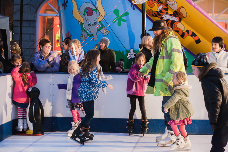 At the icerink in Dumfries during Xmas Lights Switch on celebrations