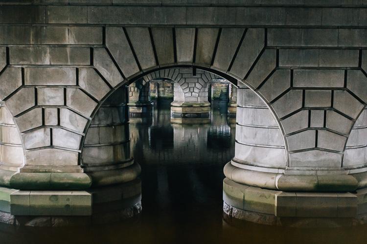 Under Caledonian Railway Bridge in Glasgow