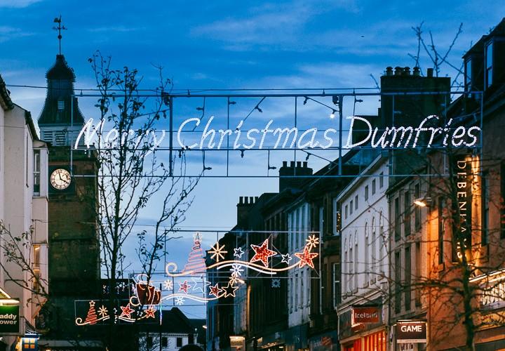Dumfries Christmas illumination