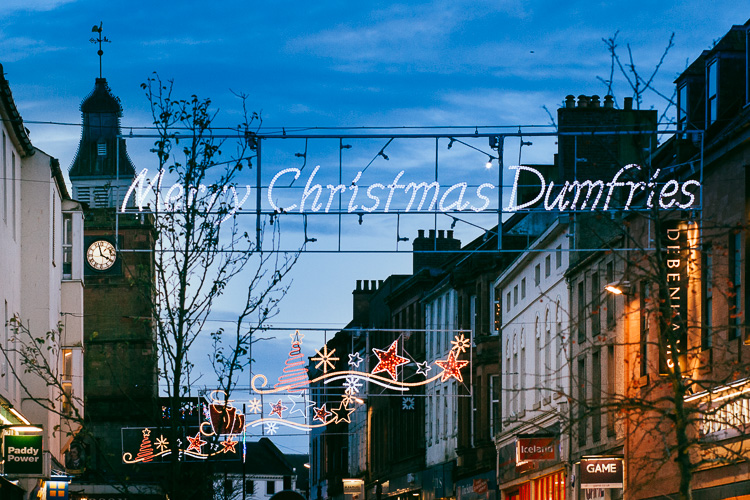 Dumfries Christmas illumination