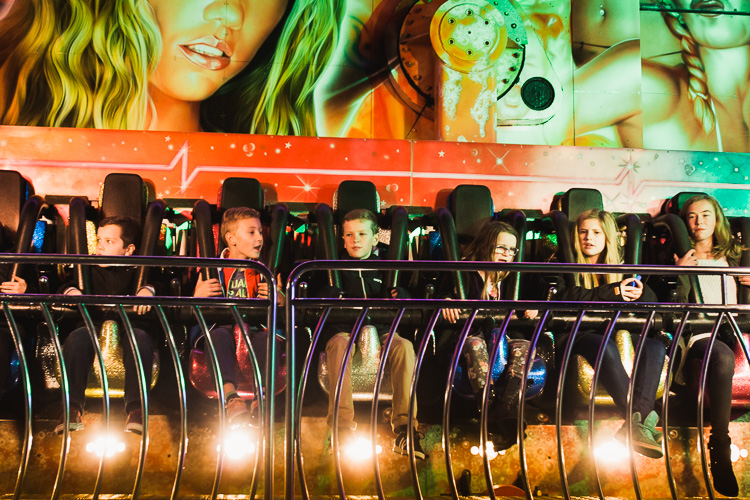 Youngsters having fun on the Experience ride