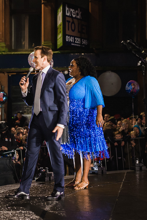Strictly Come Dancing stars Anton du Beke and Alison Hammond make a surprise appearance at Dumfries celebrations