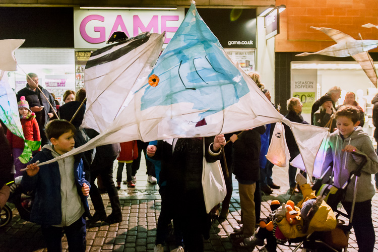 Schools, groups and organisations prepared handcrafted imaginative lanterns for the procession
