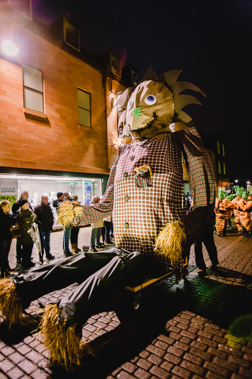 Large-scale puppets looked really spectacularly