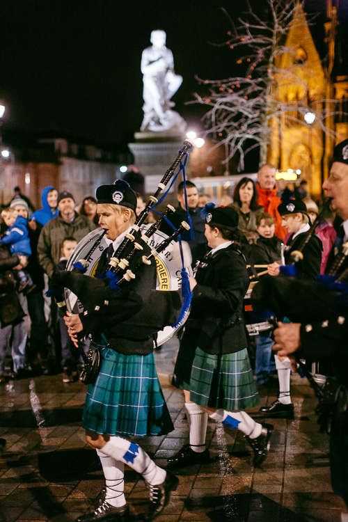 There is no celebration of  Scottish culture without the pipers!