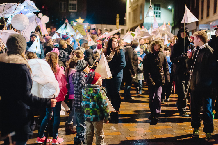 Thousands turned out to set Dumfries town centre alight with their lanterns