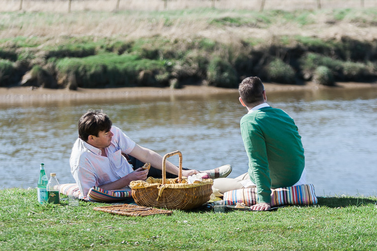 Picnic on the banks of the  river Nith