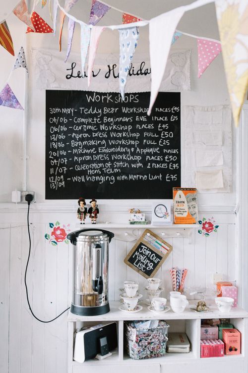 A sweet tea-making station and vintage china