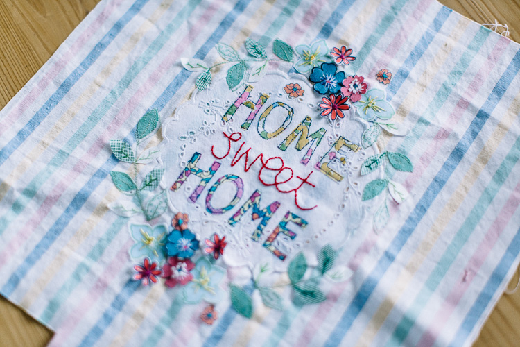 Embroidery and appliqué detail from So Sew Pretty