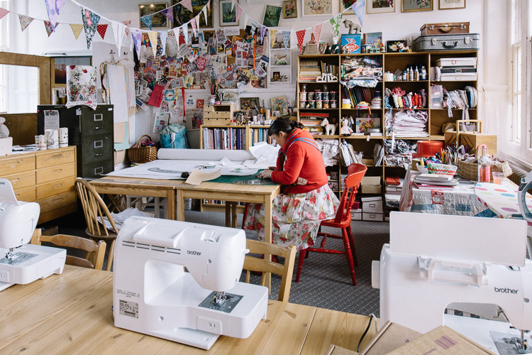 So Sew Pretty is an enticing vintage space used by Leah for hosting sewing classes
