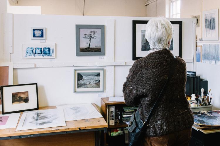 Steven Burnie's open studio