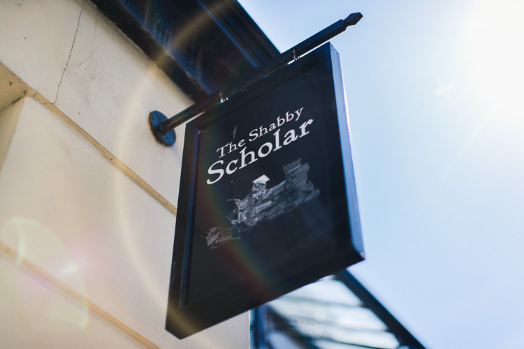 The Shabby Scholar sign
