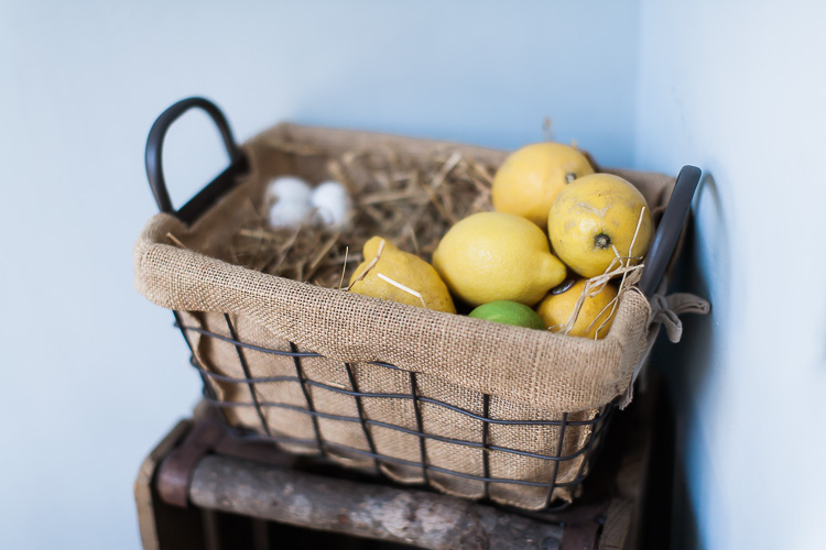 Rustic citrus fruit display