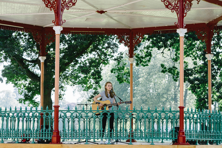 The historic bandstand welcomes young Dumfries musicians