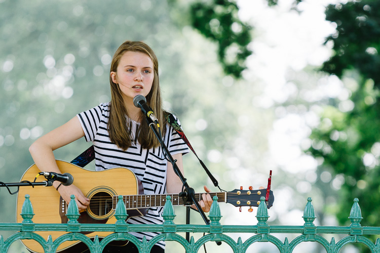 Young Dumfries musicians perform in Dock Park