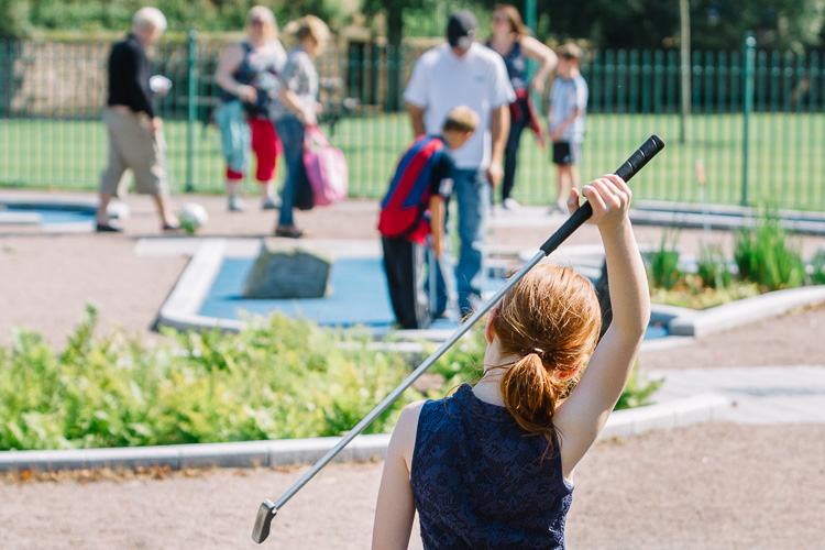Crazy Golf family fun at Dock Park Dumfries