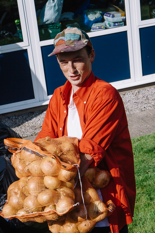 Bags of onions for Calais camp