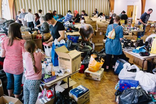 Massive Outpouring of Love - Dumfries and Galloway Refugee Action at work
