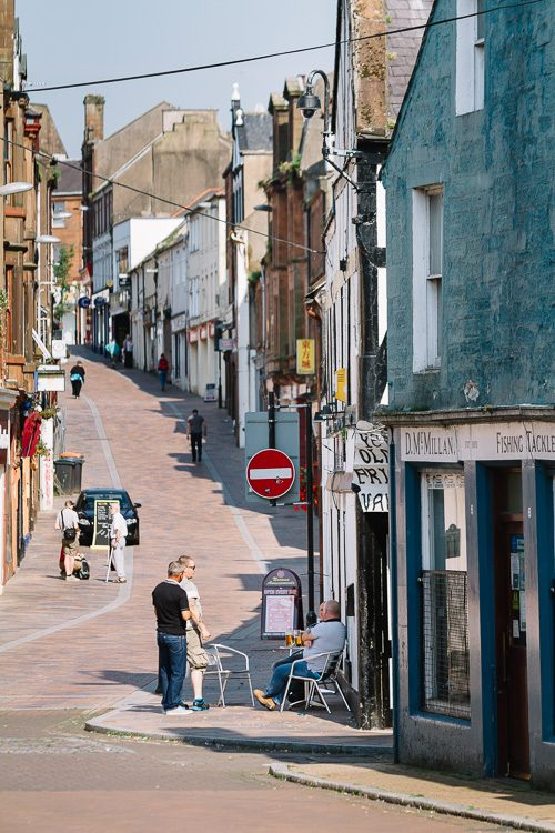 A view from Whitesands onto Friars Vennel, Dumfries