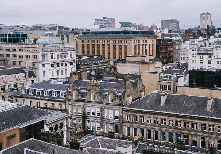 Glasgow cityscapes and rooftops