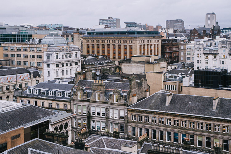 The 'classical' side of Glasgow cityscape