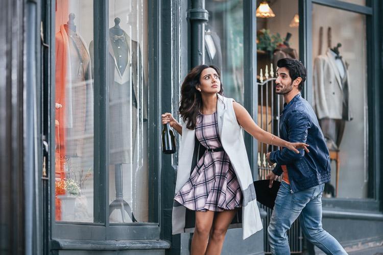 Neha Sharma and her male lead Aditya Seal