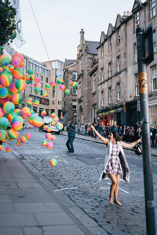 The balloon release on Victoria Street for Tum Bin 2 Bollywood romance