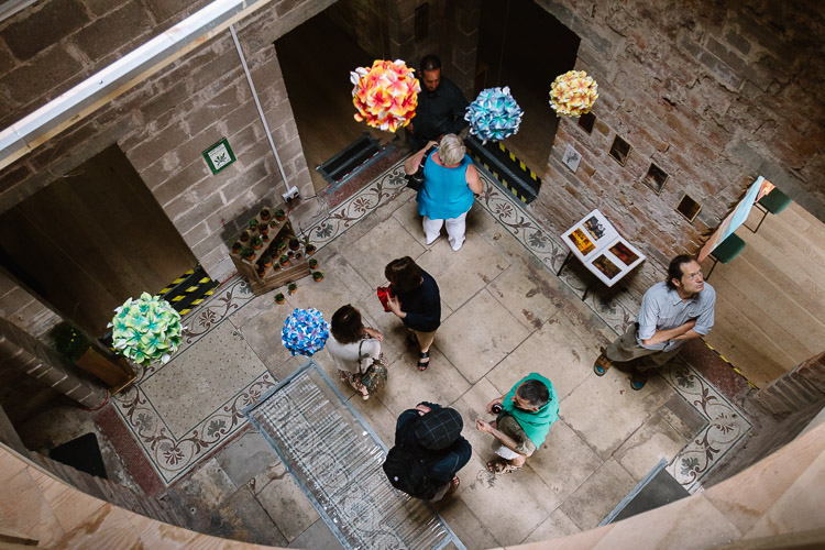 Moat Brae - looking down at the visitors