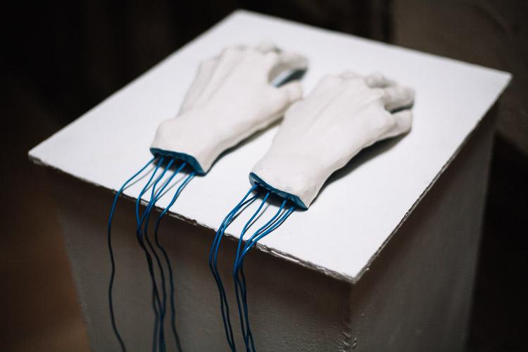 Hayley's wired hands piece