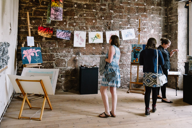 D&G college students' work displayed on the walls of Moat Brae