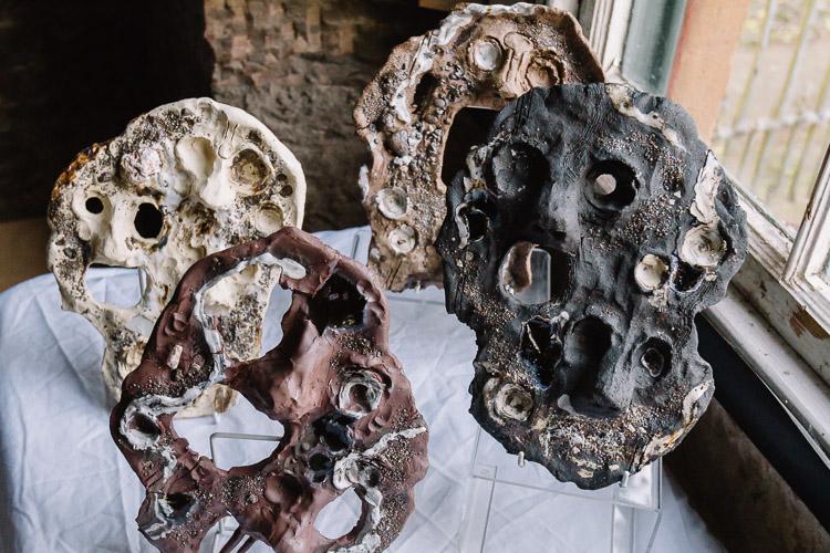 Angus Breadalbane's ceramic skull pieces