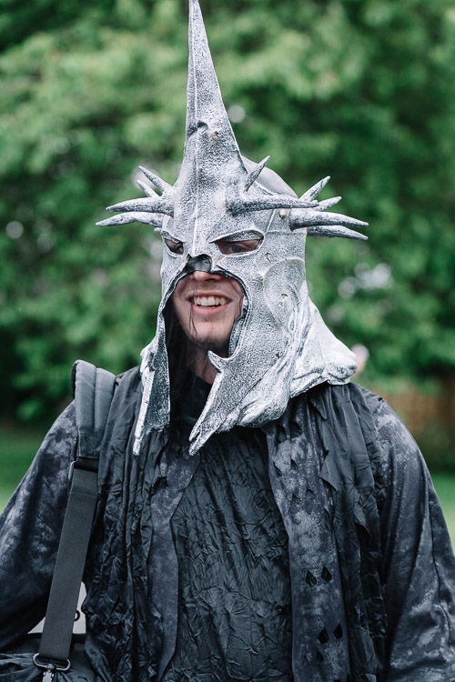 Sauron arrives to Sophie's Lord of the Rings birthday party
