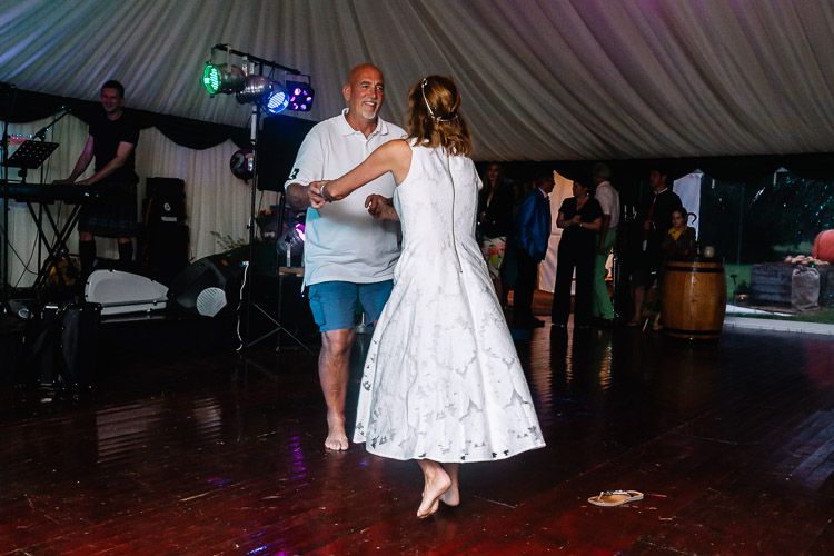 Sophie's mum and dad on the floor