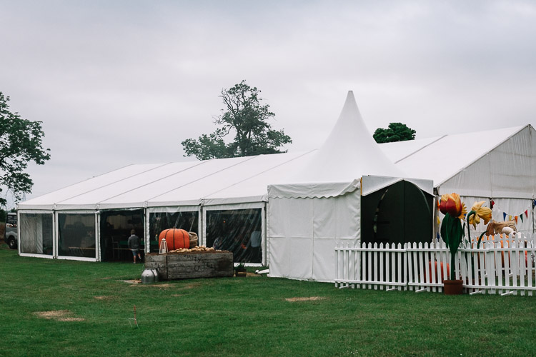 Marquee transformed into the hobbit shire