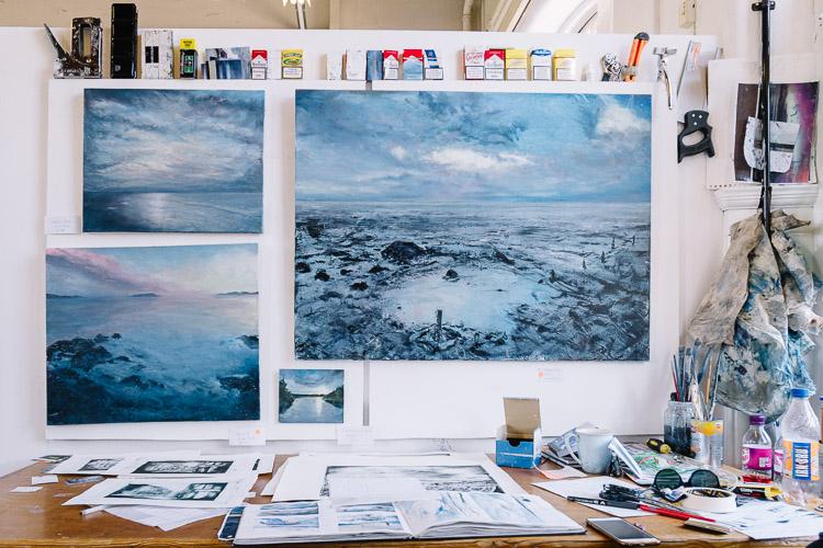 Fraser Irvine's studio (Spring Fling 2016 Studio 52) at Solway House