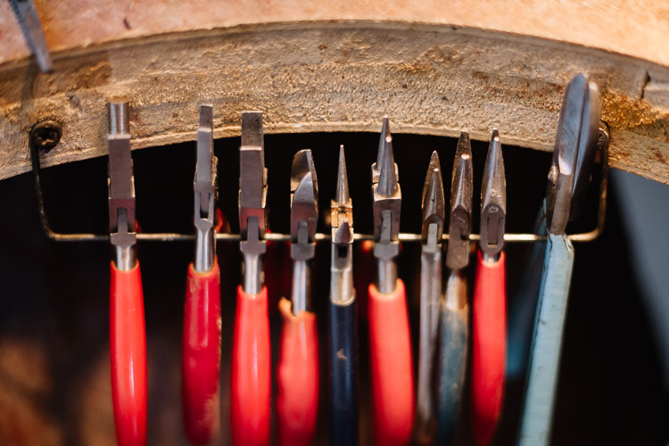 Tools for handmade jewellery making