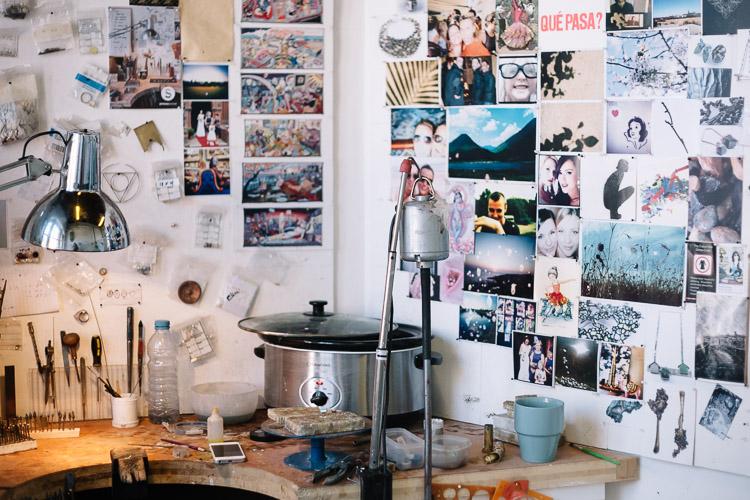 Shona Guthrie's work space (Studio 54)