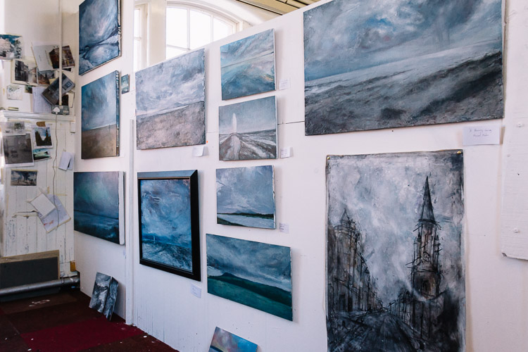 Fraser's finished lndscape paintings