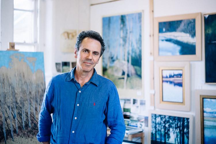 William Spurway in his studio