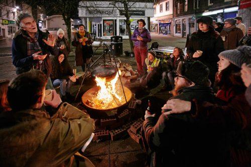The Stove's urban campfire