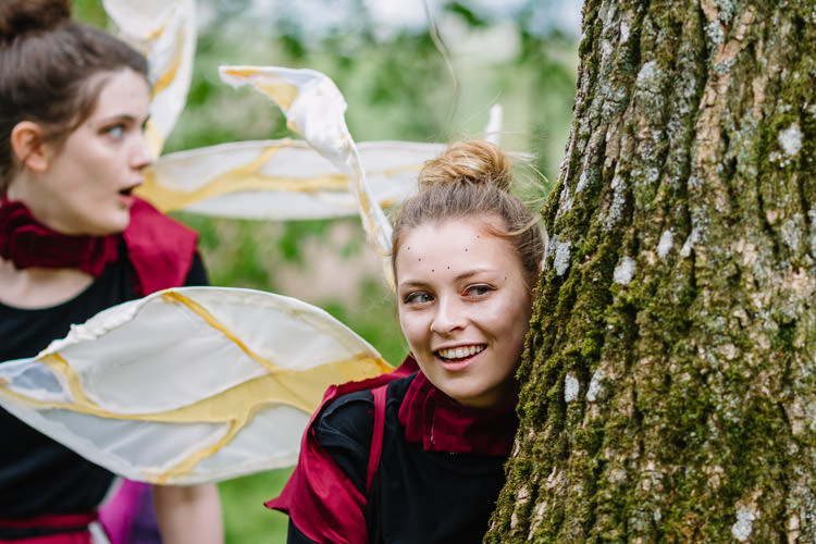 Young actors from Dumfries Youth Theatre play the role of cosmic faeries