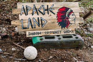 Apache Land garden sign drying