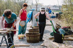 Sandside community members reviving old wooden planters