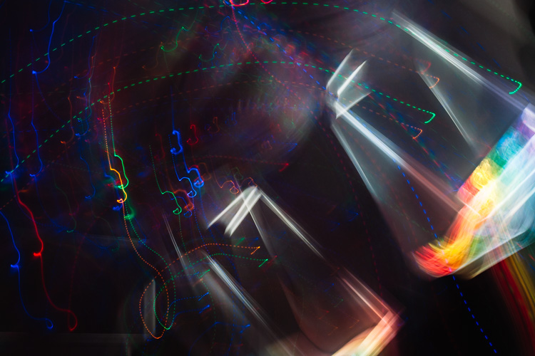 Unpredictable abstracts produced by intentional camera movement