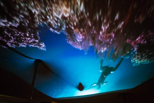 Underwater projection at Nithraid 2017