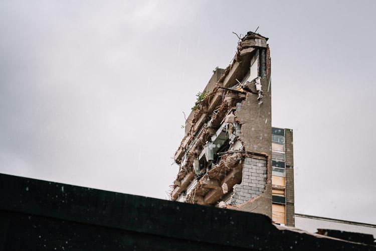 Glasgow demolition site
