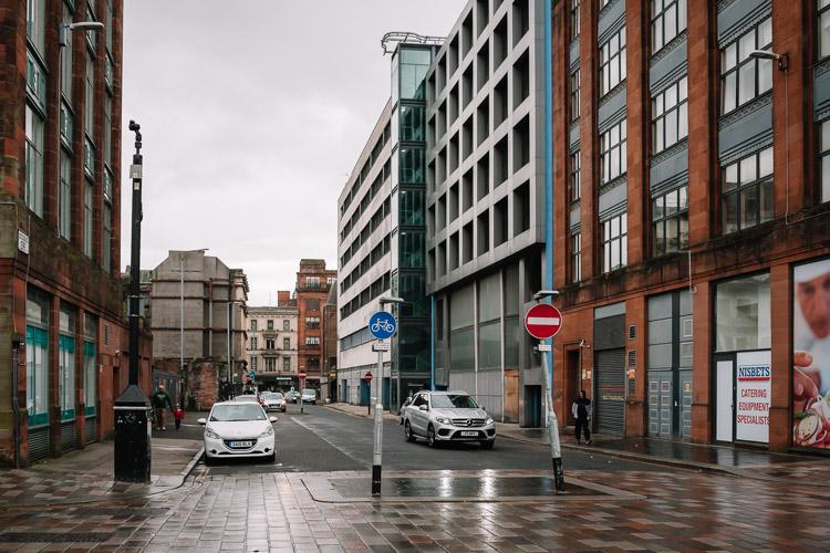 Wet afternoon at Hutcheson Street, Glasgow