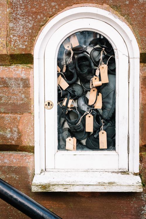 Bea Last's Lost Voices installation in the Midsteeple niche